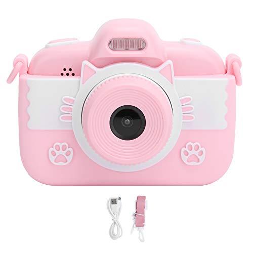 Rodipu Cámara HD, Dibujos Animados encantadores, Pantalla táctil, cámara para niños, cámara de Video, cámara de Pantalla de 2.8 Pulgadas para niños, para Regalos(Pink, Pisa Leaning Tower Type)