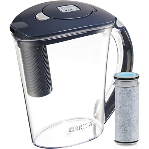 Brita Stream Filter-As-You-Pour Water Pitcher, 10 cup, Carbon