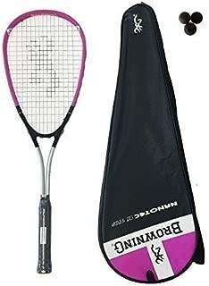 3 balles de squash rrp £ 300 BROWNING Plasma Nano 120 Rose Raquette de squash