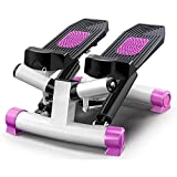 ZLQBHJ Máquinas de Step, Debajo del Escritorio Escalera Paso a Paso Equipo de Ejercicio con Monitor Digital y Rastreador de Paso, no se Requiere ensamblaje (Color : Purple)