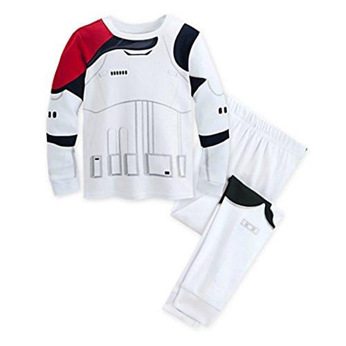 Disney Star Wars: The Force Awakens Stormtrooper Pj Pals for Kids Size: 4,White