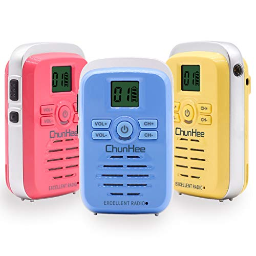 Chunhee Wireless Intercom System for Elderly Room to Room Intercom System Indoor Outdoor Intercom System,5 Miles Range 16 Channel Communication Intercom Walkie Talkie for House Office Travel (3 Pack)