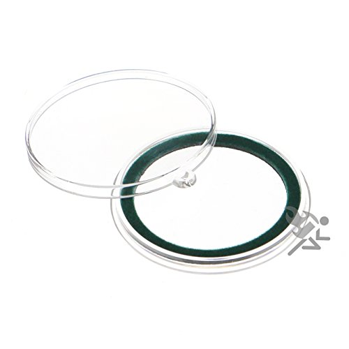 (25) Air-tite 40mm Green Velour Colored Ring Coin Holder Capsules with Loop Holders for American Silver Eagles & 1oz…