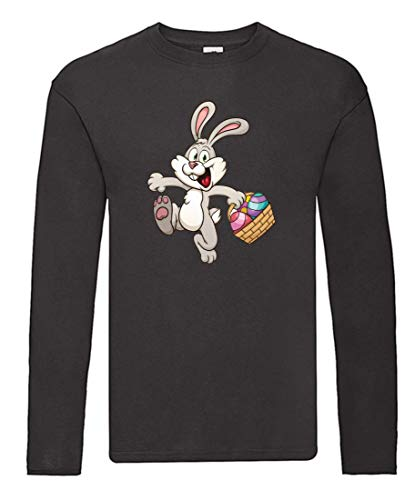 Langarmshirt - Kaninchen Cartoon Eierkocher Bunt - Long Sleeve Unisex für Kinder - Jungen und Mädchen