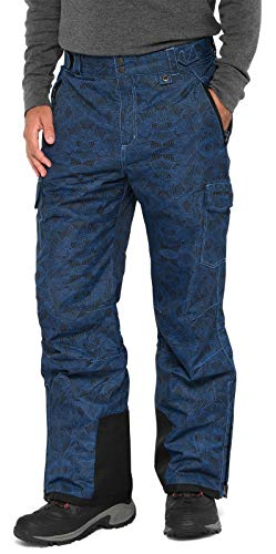 Arctix Men's Snow Sports Cargo Pants, Diamond Print Nautical Bue, 2X-Large/Regular