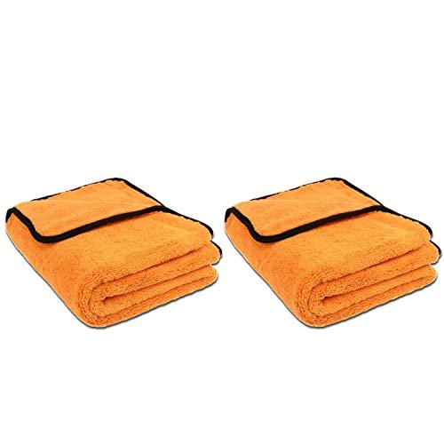 Liquid Elements 2 Stück Set ! Orange Baby XL - Mikrofaser Trockentuch, 90 x 60 cm, Extra großes Trockentuch für die schonende Fahrzeugpflege