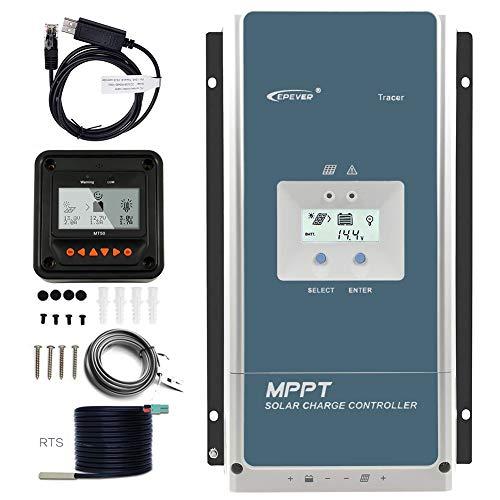 EPEVER 100A MPPT Charge Controller 48V 36V 24V 12V Auto, 100 amp Solar Controller MPPT Negative Ground Max 150V Input fit for Litium Sealed (AGM) Gel Flooded User Battery【Upgraded】