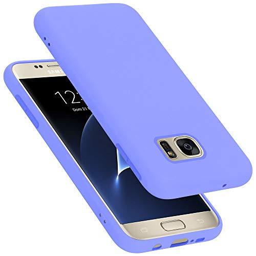 Cadorabo Custodia per Samsung Galaxy S7 in LIQUID LILA CHIARO - Morbida Cover Protettiva Sottile di Silicone TPU con Bordo Protezione - Ultra Slim Case Antiurto Gel Back Bumper Guscio