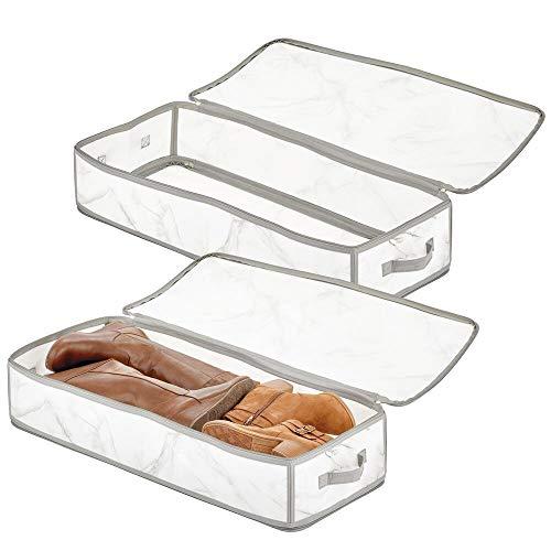 mDesign - Hangmand in 4-delige set - hangende opberger/draadmand - voor keuken/voorraadkast/buffetkast - groot/voor aan schap - zilver