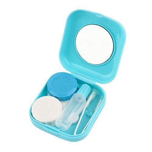 Freeday Plastique Portable Mini pour Lentilles de contact extérieur Voyage lentilles de contact Porte-conteneur avec miroir facile pour un transport Soins des Yeux