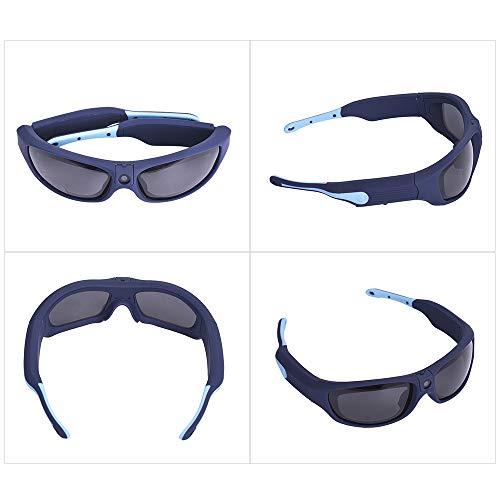 Camnoon Sunshine IP55 a Prueba de Agua, Gafas de Sol de grabación de Video Inteligentes, 1080p FHD, cámara de acción para Deportes al Aire Libre con Lentes de Seguridad con protección UV polarizada