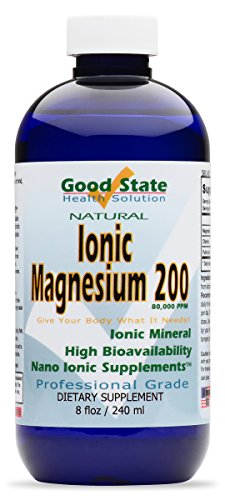 Good State | Liquid Ionic Magnesium 200 (8 oz) | Dietary Supplement | Great for Digestive System | Essential to Help Promote and Maintain Healthy Bone Development | 200 mg per Serving | 8 oz Bottle