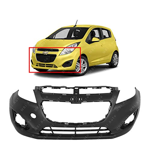 MBI AUTO - Primered, Front Bumper Cover Fascia for 2013 2014 2015 Chevrolet Chevy Spark Hatchback 13 14 15, GM1000935