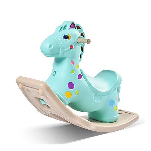 FZJDX Amusement Walking Plastic Schaukelpferde drinnen und draußen reiten auf Pferdespielzeug für Kleinkinder Baby Kinder