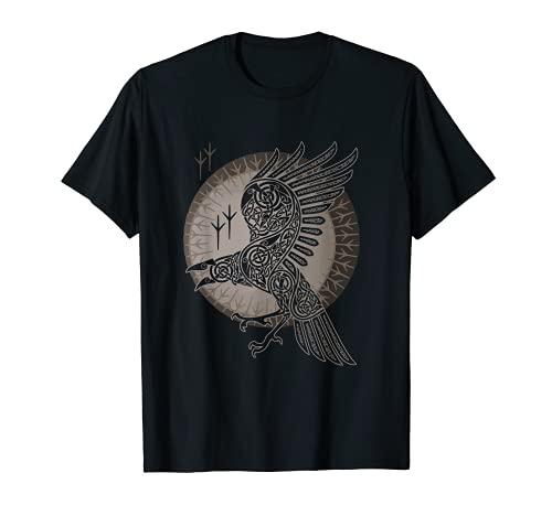 Vintage-Vikings celtic mythology Odins Raven Hugin-munin T-Shirt