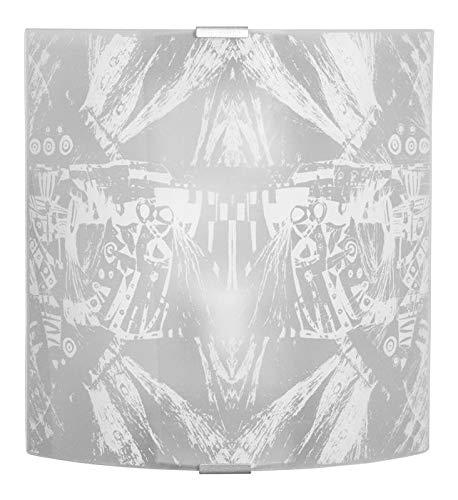 E-ENERGY Roberta - Aplique de Pared de Cristal Moderno, Rectangular, Casquillo E27, 1 luz, Fabricado en Italia