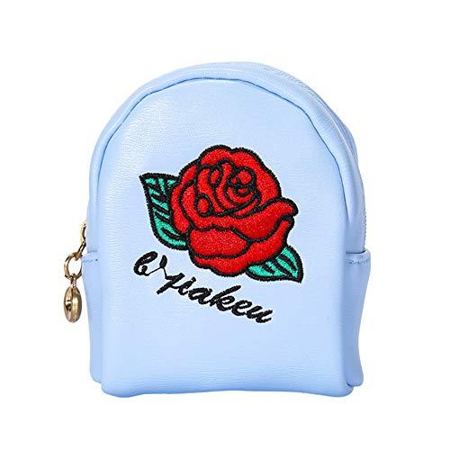 Vi.yo. Rose Portefeuille Rangement Sac De Maquillage Rouge à Lèvres Clé Sac Carte Bancaire La Trompette PU