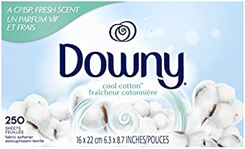 Downy Fabric Softener Dryer Sheets, Cool Cotton, 250 Count