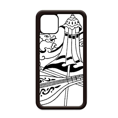 Chinese paraplu zwaard draak tekening voor Apple iPhone 11 Pro Max Cover Apple mobiele telefoonhoesje Shell, for iPhone11 Pro