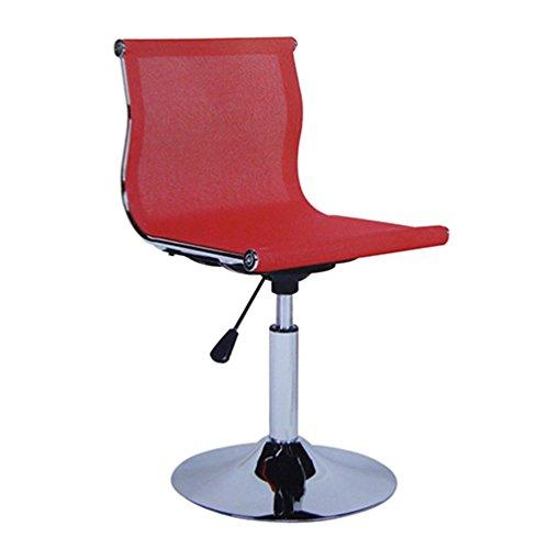 Chaise d'ordinateur rotatif, chaise de bureau relevable chaise de dossier de dossier Chaise de réception tabouret de comptoir chaise de bureau chaise d'ordinateur 40-55cm (Couleur : Rouge)
