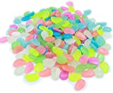 Easyinsmile Glow in The Dark Stones Garden Pebbles, Luminous Pebbles for Walkways Outdoor Decor Aquarium Fish Tank Garden Decorative Stones for Path Lawn Yard Walkway(200pcs)