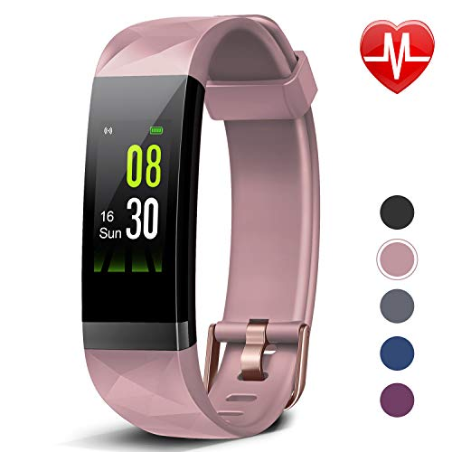 Price comparison product image Letsfit Fitness Tracker HR,  Activity Tracker Color Screen,  Heart Rate Monitor,  Sleep Monitor Step Counter,  Calorie Counter,  Pedometer IP68 Smartwatch for Kids Women Men