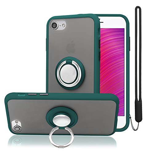 takyu iphone SEケース 第2世代/iPhone8ケース/iPhone7ケース/iPhone6ケース スマホリング 耐衝撃 保護カバー 車載ホルダー対応 携帯カバー ス 落下防止 4.7インチ,グリーン