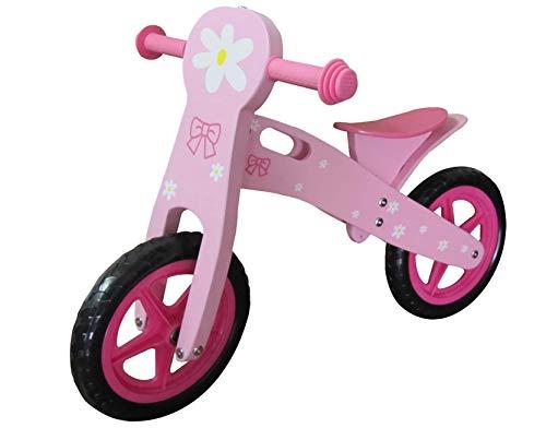 Dunjo® Holz Laufrad Princess Rosa | Mädchen Lauflernrad | Höhenverstellbar |