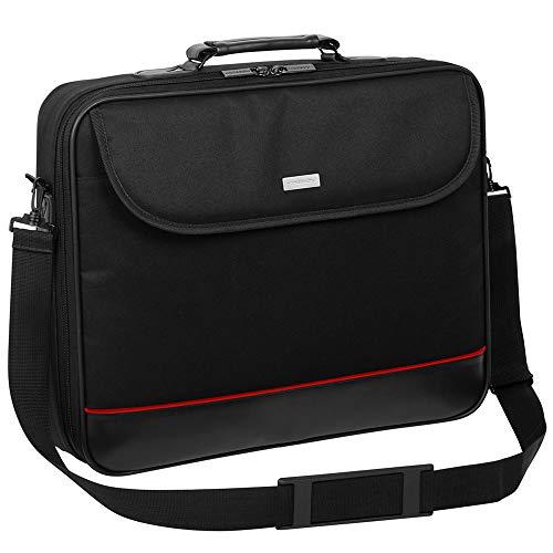 Laptop Tasche passend für MEDION ERAZER Defender P10 MD63685 | Notebook Hülle Umhängetasche Aktentasche mit verstärkten Schutzrahmen | MX Schwarz