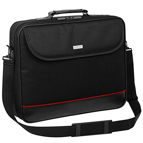 Laptop Bag Suitable for Schenker XMG Fusion 15 | Notebook Sleeve Shoulder Bag Briefcase with Reinforced Protective Frame | HQ Black