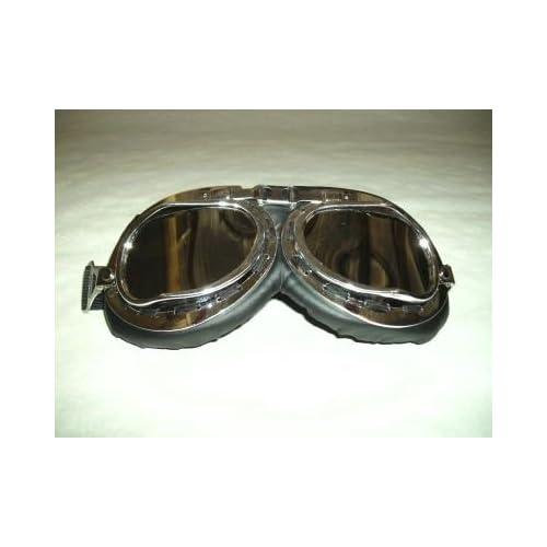 6af0c91cb4 Gafas para motero - Tipo gafas de piloto - Lentes de plástico cromado