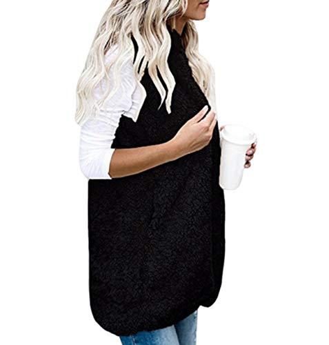 GL SUIT Womens Faux Bont Gilet Microfleece Body Warmer Gilet Fleece Vest Mouwloos Jas Comfortabele Twee Zakken Vest Fluffy Hoodies Cardigan Bovenkleding