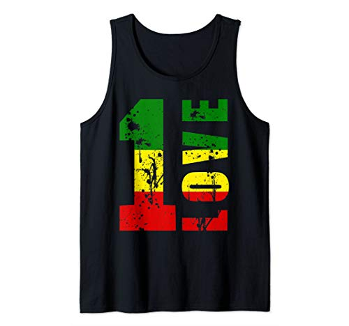 One Love Jamaica Apparel Rasta Reggae Music Caribbean Pride Tank Top