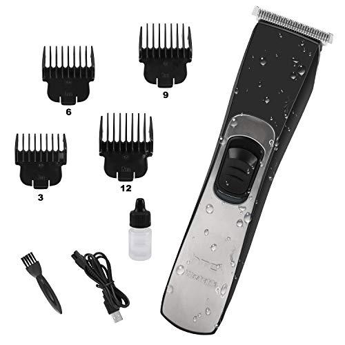 Axceed Haarschneidemaschine Profi Herren Haartrimmer Bartschneider mit 4 Führungskämmen und (USB-Schnellladung) Wasserdicht