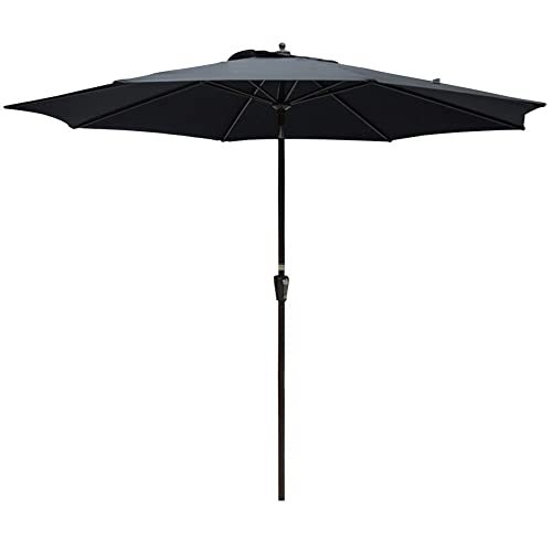 Sundale Outdoor 10FT Market Umbrella Table Umbrella with Crank and Auto Tilt, Aluminum Ribs,