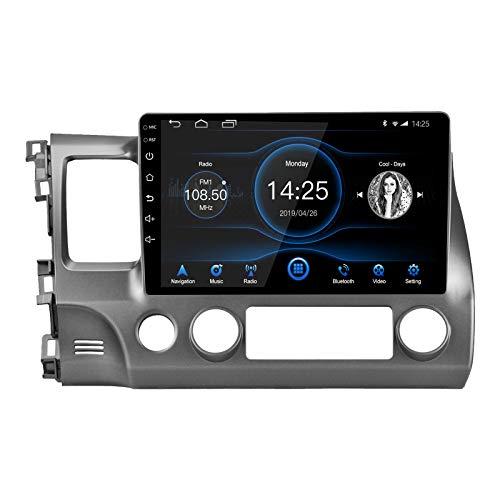 LEXXSON Android 10.1 Autoradio für Honda Civic 2007-2011 | 10,1-Zoll-Touchscreen AM FM-Radio-EQ-Einstellung GPS-Navigation WLAN Bluetooth USB-Player Spiegelverbindung Lenkradsteuerung