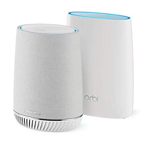 Netgear Orbi Sistema WiFi Mesh Potente con Alexa RBK50V, Pacchetto da...