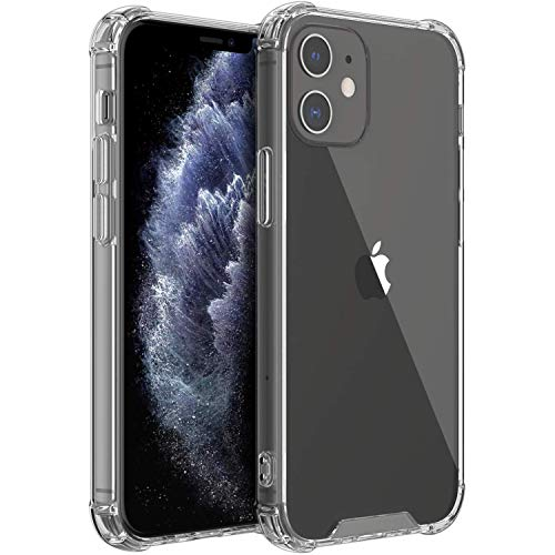Shamo's Funda Compatible con iPhone 12/12 Pro, Transparente Carcasa Protección a Bordes y Cámara con Absorción de Choque Cojín de Esquina Parachoques con PC Duro TPU Suave