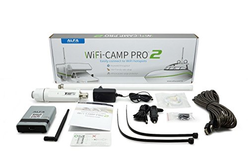 ALFA Network WiFi CampPro 2 Universal WiFi / Internet Range Extender Kit for Caravan/Motorhome, Boat, RV