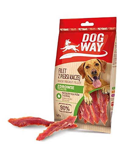 Dogway Hundesnack Entenbrust 40G, Entenbrust 90% Hundeleckerli 10er Pack (10 x 40 g)
