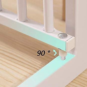 Porte en Métal Extra Large À Travers La Barrière for Animaux Domestiques for Escalier avec Rampe Et Mur, Hauteur 75 Cm, Largeur en Option (Size : 141-148cm)