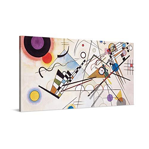 PICANOVA – Wassily Kandinsky – Composition VIII 100x50cm – Quadro su Tela – Stampa Incorniciata con Spessore di 2cm Altre Dimensioni Disponibili Decorazione Moderna – Arte Classica