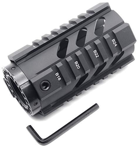 TRIROCK New 4'' Black Quad Rail AR15 M16 Handguard Picatinny Rail Mount fits .223/5.56 AR-15 Rifle for real Pistol Shotgun