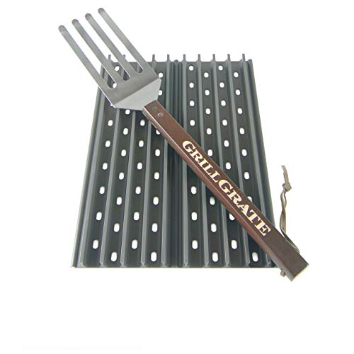 GrillGrate Set of Two 13.75' (Interlocking) + Grate Tool