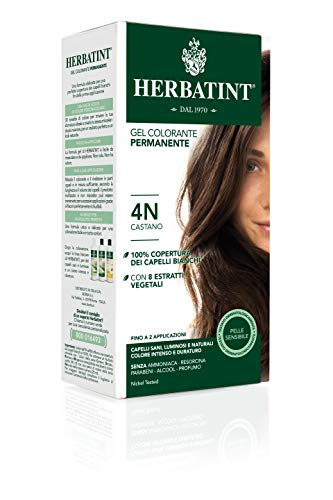 Herbatint 4N Chestnut Permanent Herbal Hair Colour Gel, 150 ml