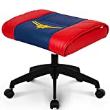 NEO CHAIR Licensed Marvel Multi-Use Stool w/Wheel : Video Game Stool Gaming Chair Stool Footstool Simple Chair Footrest Meeting Chair Swivel Height Adjustable (Captain Marvel)