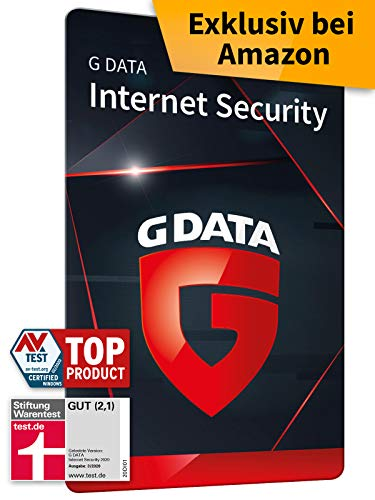 G DATA Internet Security 2020, 3 Geräte - 1 Jahr, Code, frustfreie Packung, Virenschutz Windows, Mac, Android, iOS, Made in Germany