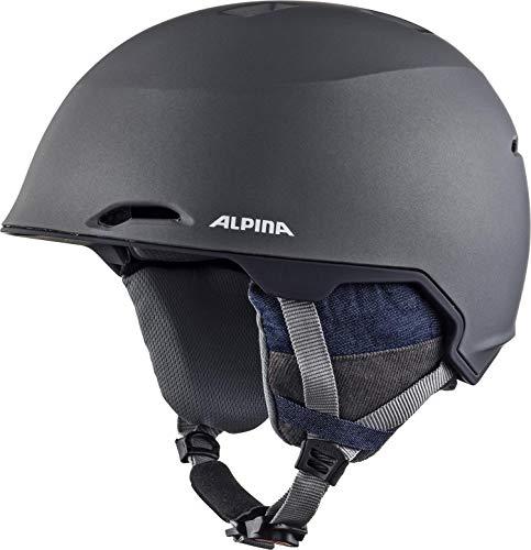 ALPINA Unisex - Erwachsene, MAROI Skihelm, denim-grey matt, 53-57 cm