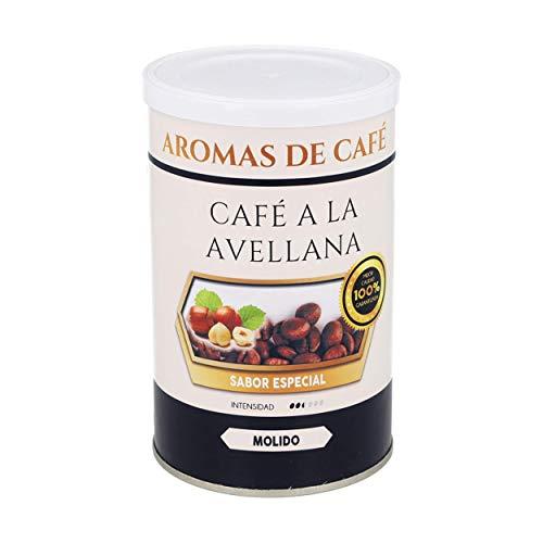 Haselnuss-kaffee | 100% Arabica gemahlener Kaffee | 100 gr | Mittlere Intensität | Aus Mittel- und Südamerika | Natürlicher, leicht gerösteter, gemahlener Kaffee
