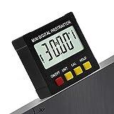 DJG 360 degrés Mini Digital Protractor, inclinomètre électronique de Niveau de Base magnétique Travail du Bois Outil de Mesure goniomètre